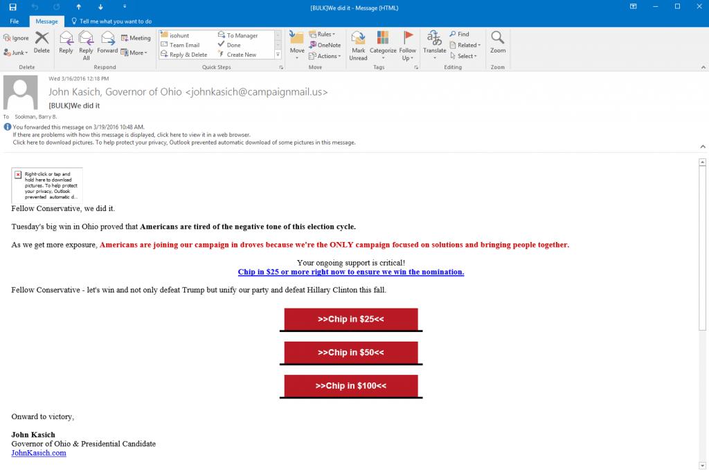 kasich email